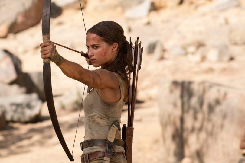 Alicia Vikander som Lara Croft.