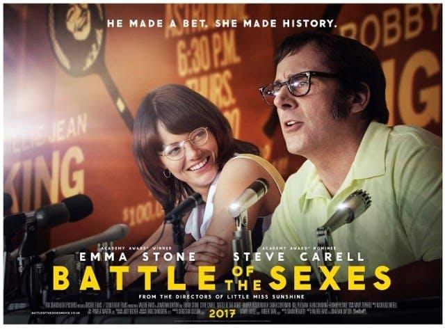 Emma Stone och Steve Carrel som spelar huvudrollerna i Battle of the Sexes