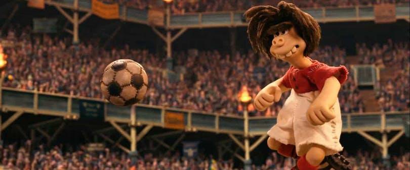 Grottmanen Dug spelar fotboll