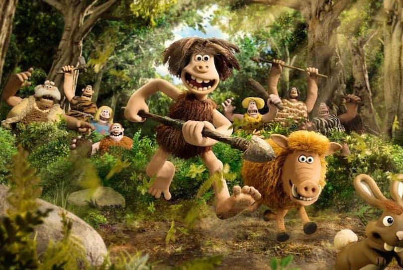 Grottmannen Dug och hans stam är ute på jakt