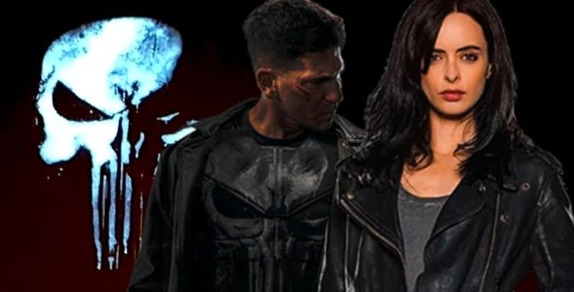 The Punisher och Jessica Jones, spelade av Jorn Berthal och Krysten Ritter