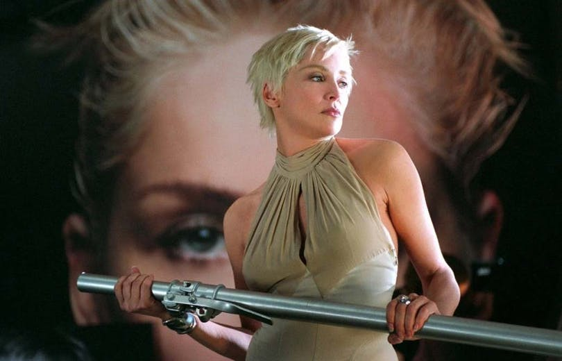 BILD: Sharon Stone i Catwoman.