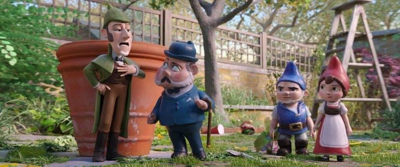 Mästerdetektiven Sherlock Gnomes.