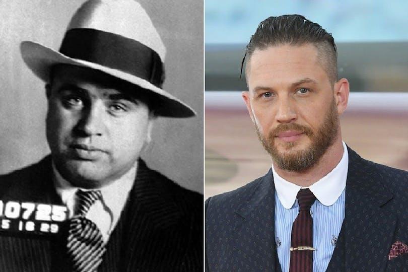 Al Capone och skådespelaren Tom Hardy.