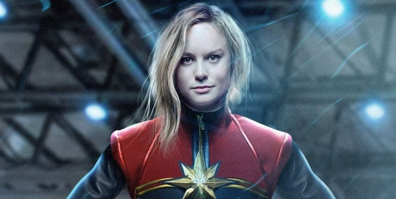 Brie Larson som Captain Marvel.