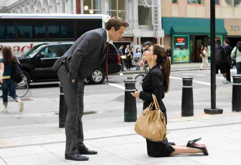 Ryan Reynolds och Sandra Bullock i The Proposal.