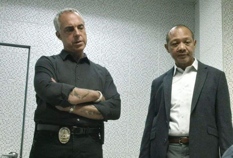 Titus Welliver och Paul Calderón i Bosch