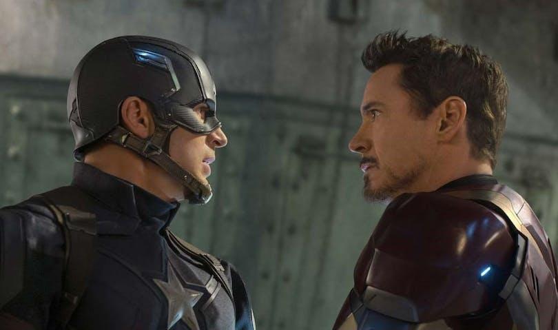 Captain America och Iron Man.