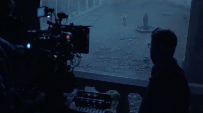 Bild från inspelningen av The Nun.