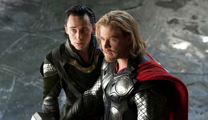 Chris Hemsworth och Tom Hiddleston.