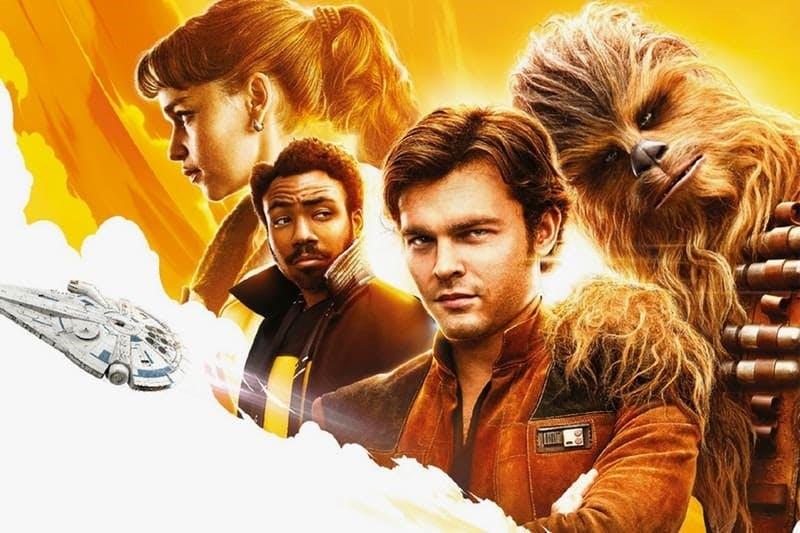 En affisch till Solo: a star wars story med flera av karaktärerna