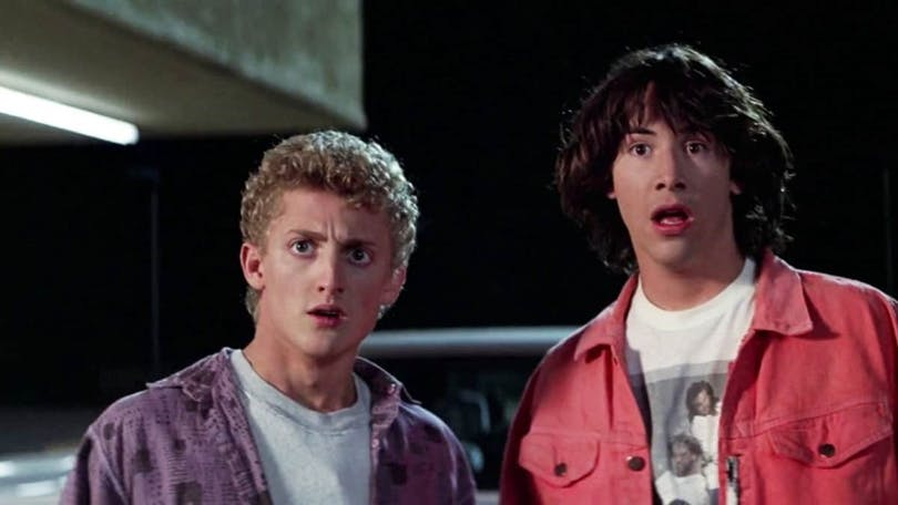 Alex Winter och Keanu Reeves i Bill & Teds galna äventyr.