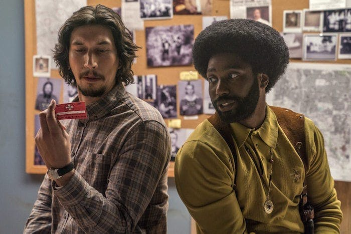"Adam Driver och John David Washington i Spike Lees ""BlacKkKlansman"""