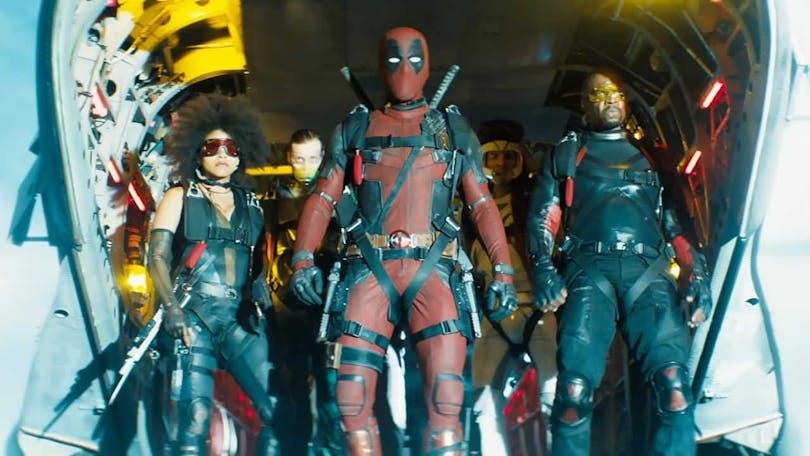 Ryan Reynolds som Deadpool i sptsen för X-Force