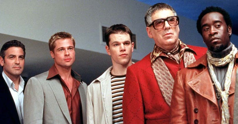 En del av gänget i Ocean's Eleven.