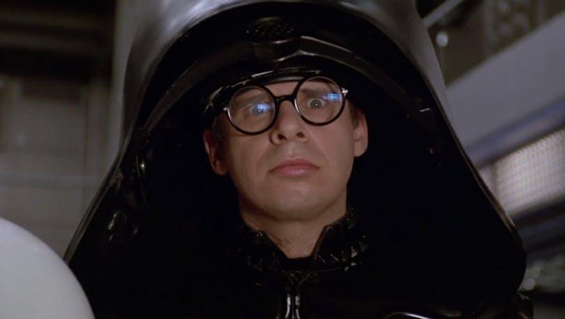 Rick Moranis som Dark Heltem i Spaceballs.