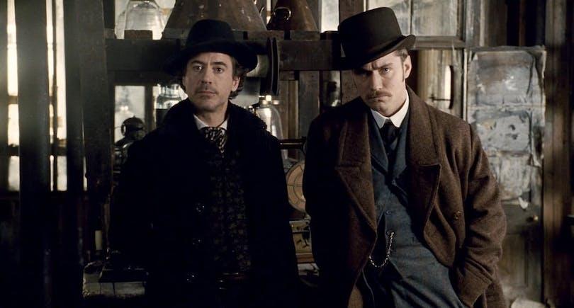 Robert Downey Jr. och Jude Law i Sherlock Holmes.