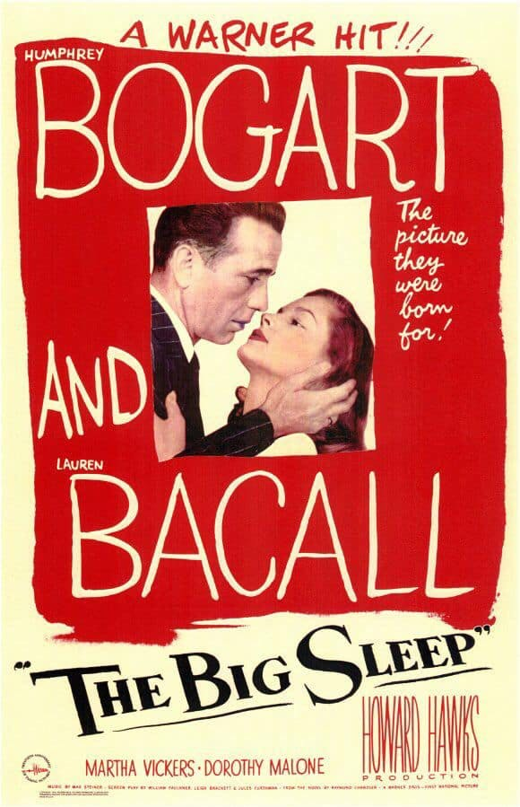 Poster till The Big Sleep (1946).