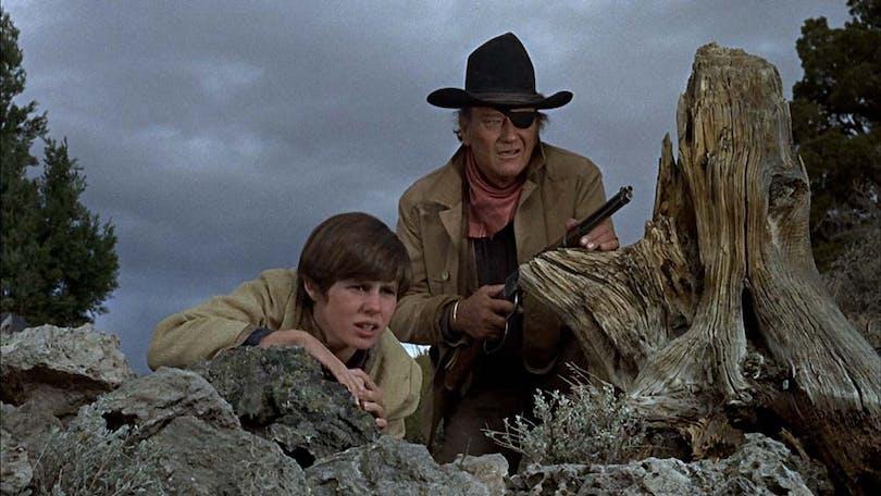 John Wayne i True Grit.