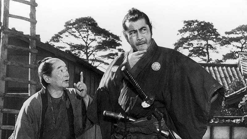 Toshiro Mifune som livvakten i Yojimbo