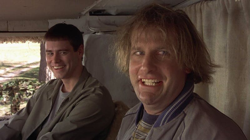 Jeff Daniels och Jim Carrey