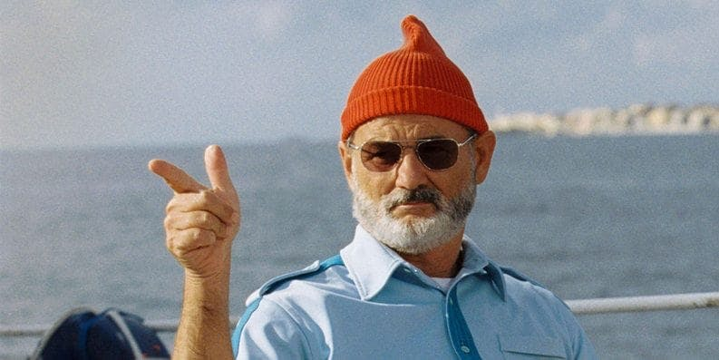 Bill Murray i röd mössa.