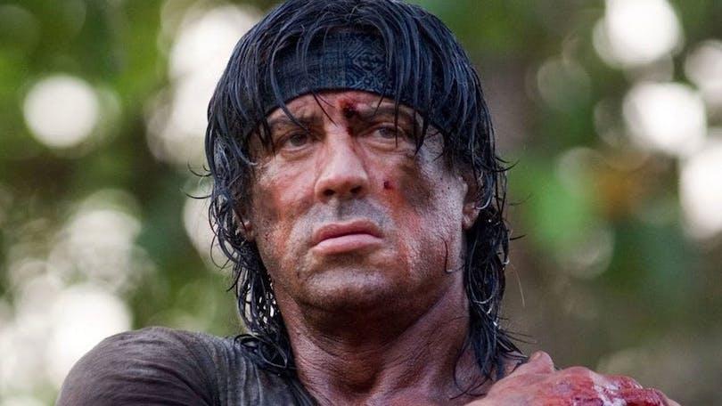 Sylvester Stallone som Rambo i den senaste Rambo-filmen från 2008