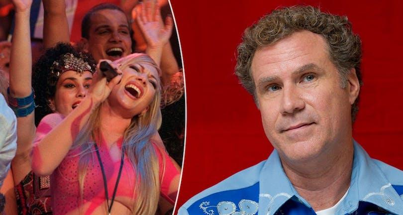 På bilden kan du se komikern Will Ferrell och Charlotte Nilsson