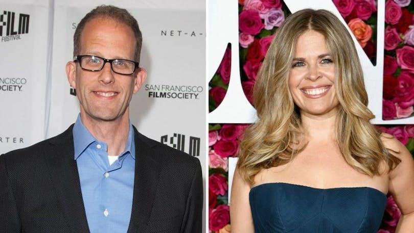 Här kan du se en bild på Jennifer Lee och Pete Docter tillsammans