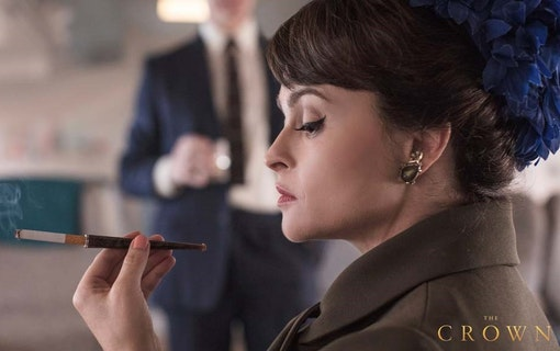 Helena Bonham Carter som Prinsessan Margaret i The Crown