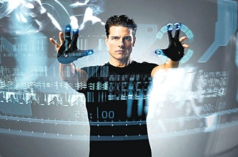 Tom Cruise i Minority Report.