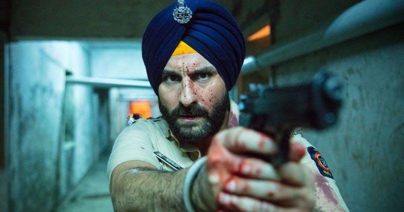 Bild på Said Ali Khan, som spelar rollen som Sartaj Singh i Sacred Games