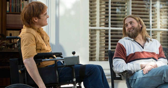 "Joaquin Phoenix och Jonah Hill i ""Don't Worry, He Won't Get Far on Foot"""