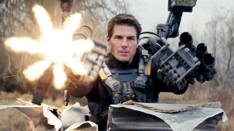Tom Cruise i Edge of Tomorrow.