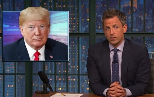 VIDEO: Seth Meyers gör narr av Trump efter hans senaste hot