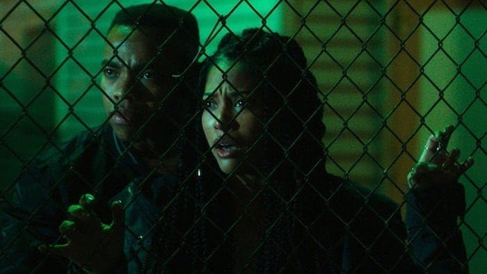 "Joivan Wade och Lex Scott Davis i ""The First Purge"""
