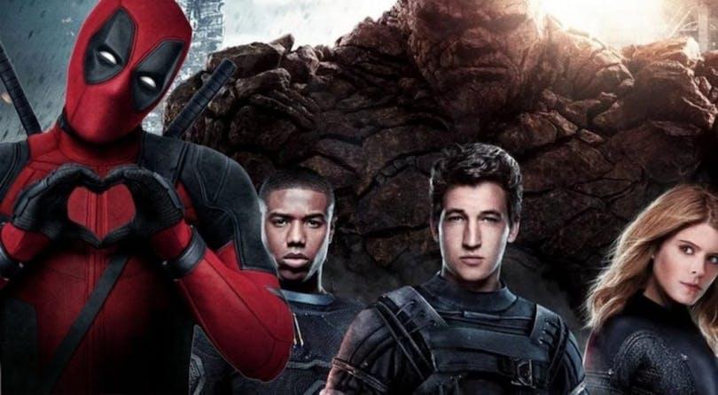 På bilden ser du gänget i Fantastic Four tillsammans med Deadpool