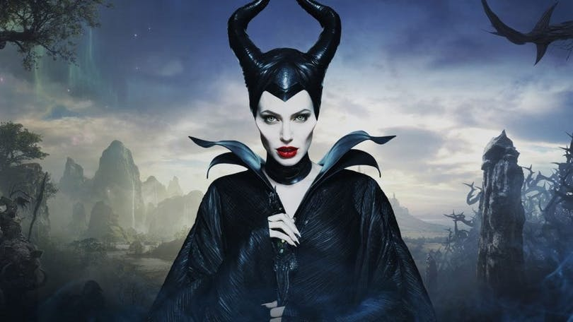 På bilden ser vi Angelina Jolie som Maleficent