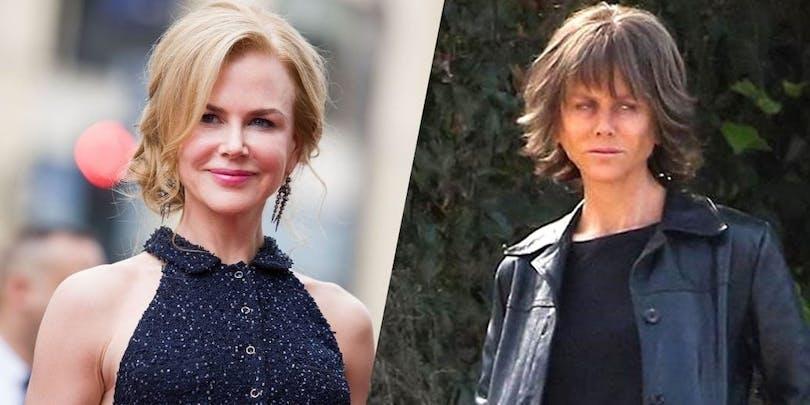 Nicole Kidman som ser ganska trött och sliten ut
