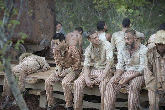 """Rami Malek och Charlie Hunnam i """"Papillon"""""""