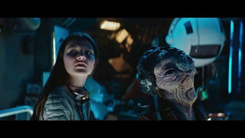 Bild från filmen Ensamma i rymden.
