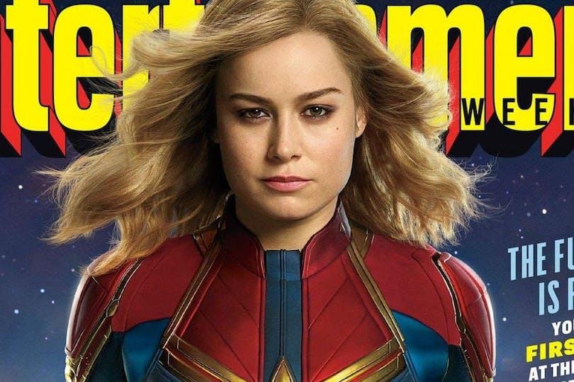 På bilden ser du Brie Larson som Captain Marvel