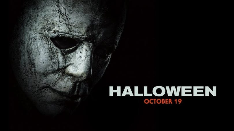På bilden ser vi Michael Myers mask
