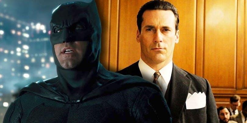 På bilden sehr du Batman och Jon Hamm