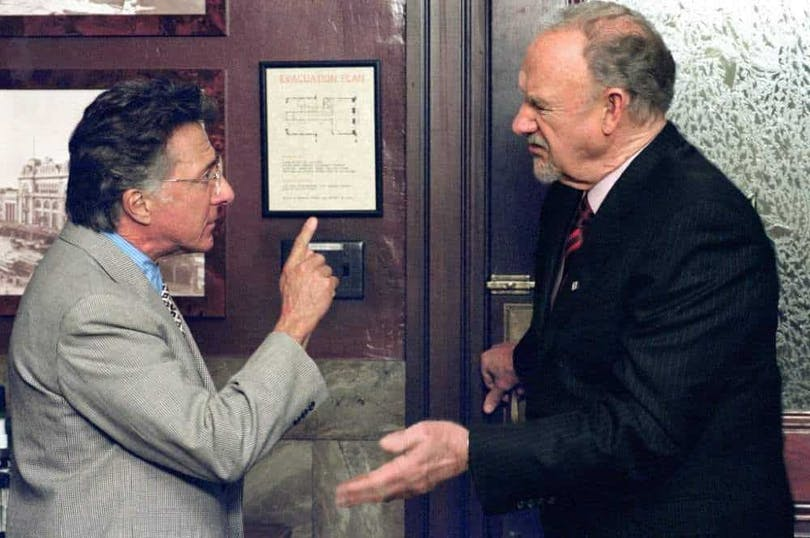 Dustin Hoffman och Gene Hackman i Runaway Jury.