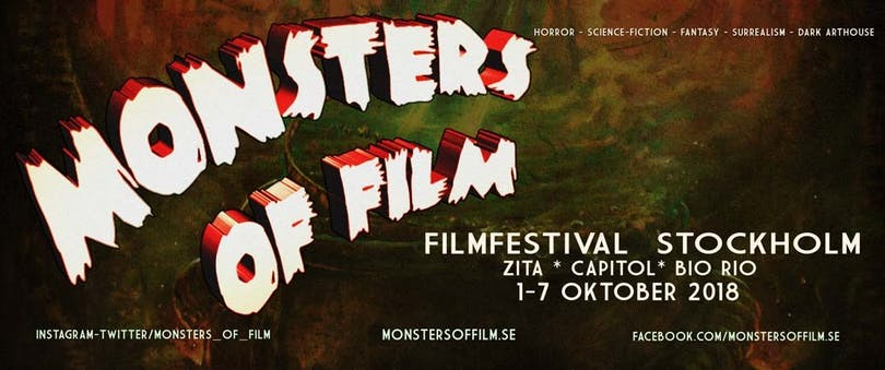 Header till Monsters of Film 2018.