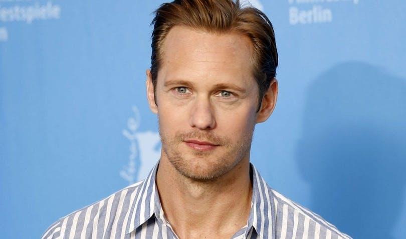 På bilden ser vi den svenske skådespelaren Alexander Skarsgård