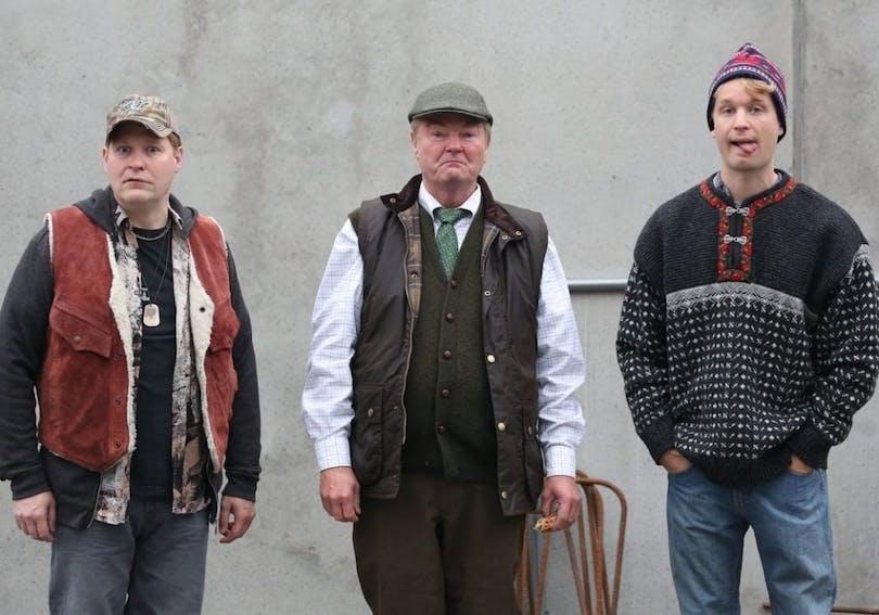 """Henrik Dorsin, Peter Dalle och Björn Gustafson i """"Lyrro""""."""