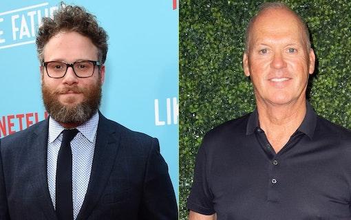 "Seth Rogen och Michael Keaton i ""King of the Jungle"""