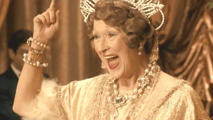 Meryl Streep som Florence Foster Jenkins.
